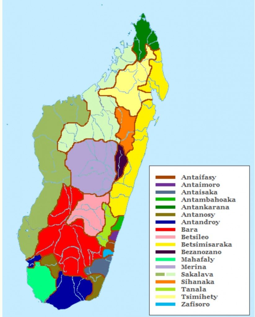 Map of Ethnic Groups in Madagascar